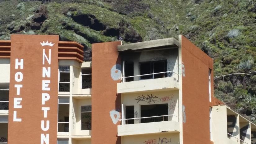 Incendio en el Hotel Neptuno deBajamar
